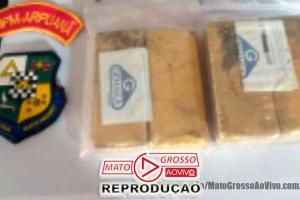 1,05 Milhão em barras de ouro são apreendidas pela PM em pista clandestina de avião em Aripuanã, dois são presos com armas 88