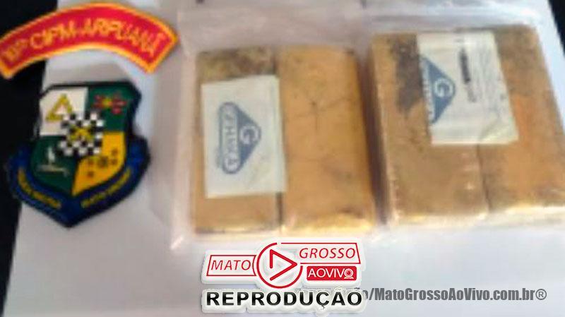 1,05 Milhão em barras de ouro são apreendidas pela PM em pista clandestina de avião em Aripuanã, dois são presos com armas 65