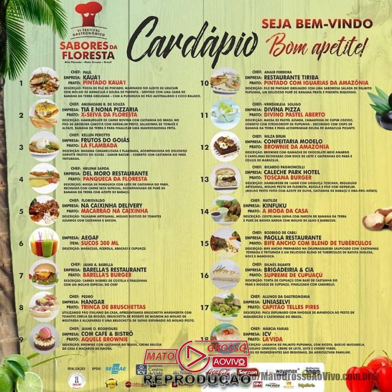 Gastronomia e cultura é a grande promessa do Festival Sabores da Floresta que começa nesta sexta em Alta Floresta 66