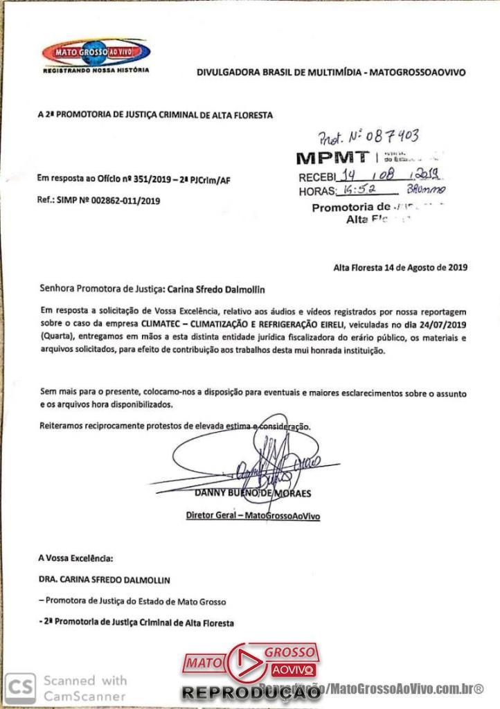 """Passados 21 dias da """"Nota de Esclarecimentos"""", licitação da prefeitura de Alta Floresta com """"empresa de gaveta"""" continua em vigência 49"""