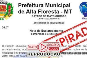 """Vereadores de Alta Floresta aguardam respostas de requerimentos sobre """"empresa de gaveta"""" e prefeitura se cala completamente 76"""