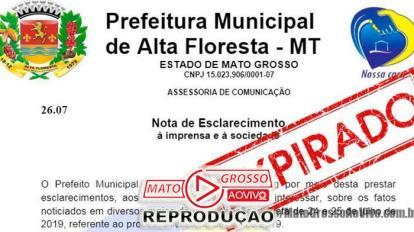 """Vereadores de Alta Floresta aguardam respostas de requerimentos sobre """"empresa de gaveta"""" e prefeitura se cala completamente 1"""