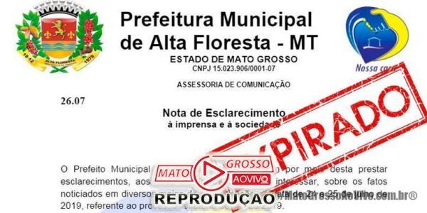 """Vereadores de Alta Floresta aguardam respostas de requerimentos sobre """"empresa de gaveta"""" e prefeitura se cala completamente 21"""