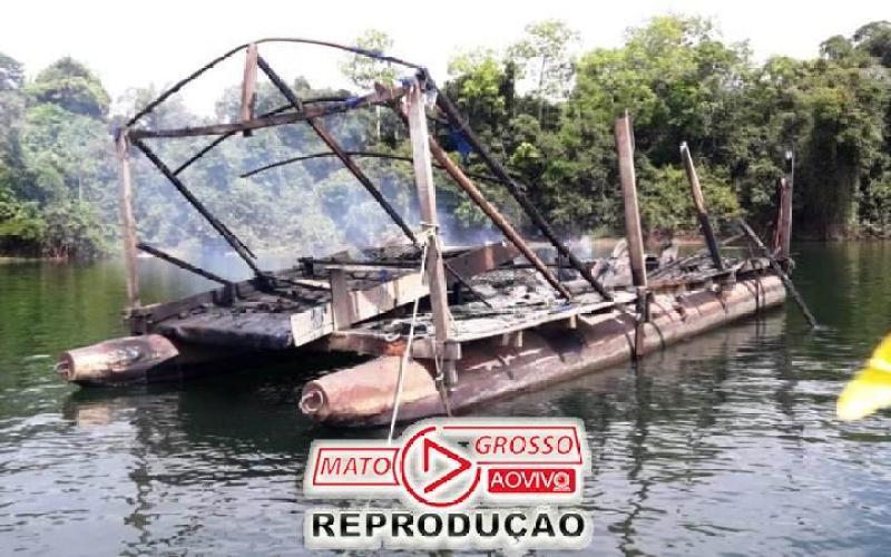 Garimpeiros próximos a Usina de São Manoel, no Rio Teles Pires, são retirados a força e balsas queimadas pelo Ibama 72