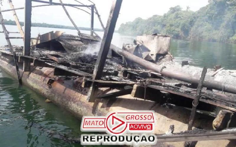 Garimpeiros próximos a Usina de São Manoel, no Rio Teles Pires, são retirados a força e balsas queimadas pelo Ibama 84