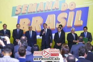 """Bolsonaro lança no Palácio do Planalto, """"Semana do Brasil"""" de 6 à 15 de Setembro, 67"""