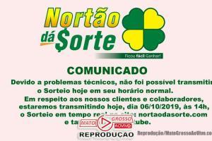 Nortão da Sorte deste Domingo 06/10 tem sorteio adiado para 14:00, devido a problemas técnicos 71
