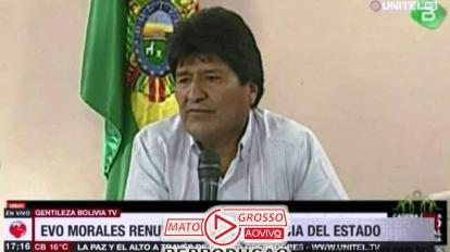 "Sob gritos de ""Narcoditador"", Evo Morales renuncia a presidência da Bolívia e presidente do Tribunal Eleitoral é presa 17"