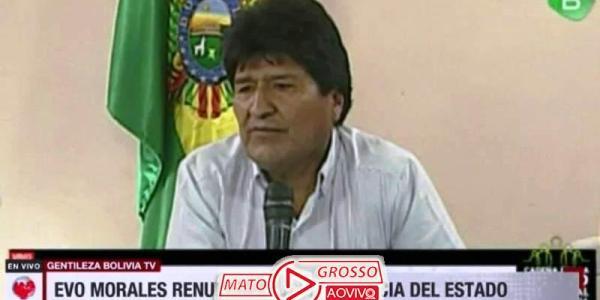 "Sob gritos de ""Narcoditador"", Evo Morales renuncia a presidência da Bolívia e presidente do Tribunal Eleitoral é presa 25"