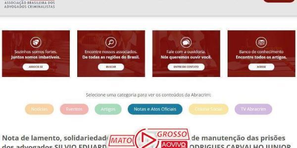 ABRACRIM emite Nota de Repúdio pela prisão dos advogados suspeitos de extorsão ao ex-prefeito de Guiratinga 38