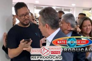 Após virar réu por falsidade ideológica, Governador Mauro Mendes agride jornalista na saída de evento 72