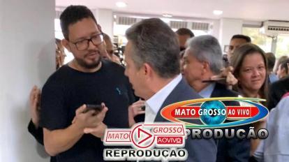 Após virar réu por falsidade ideológica, Governador Mauro Mendes agride jornalista na saída de evento 1