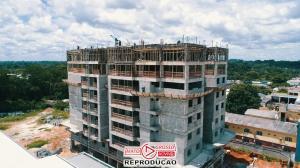 Previsto para ser entregue em julho de 2021, primeiro prédio de Alta Floresta já está com 8 andares construídos 110