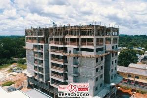 Previsto para ser entregue em julho de 2021, primeiro prédio de Alta Floresta já está com 8 andares construídos 77