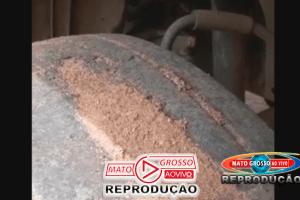 Mesmo sob assédio institucional, servidor de Alta Floresta denuncia estado dos pneus da frota municipal 57
