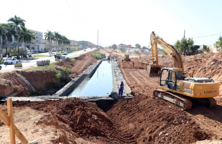 Obras de asfaltamento da avenida dos Trabalhadores são iniciadas em Cuiabá