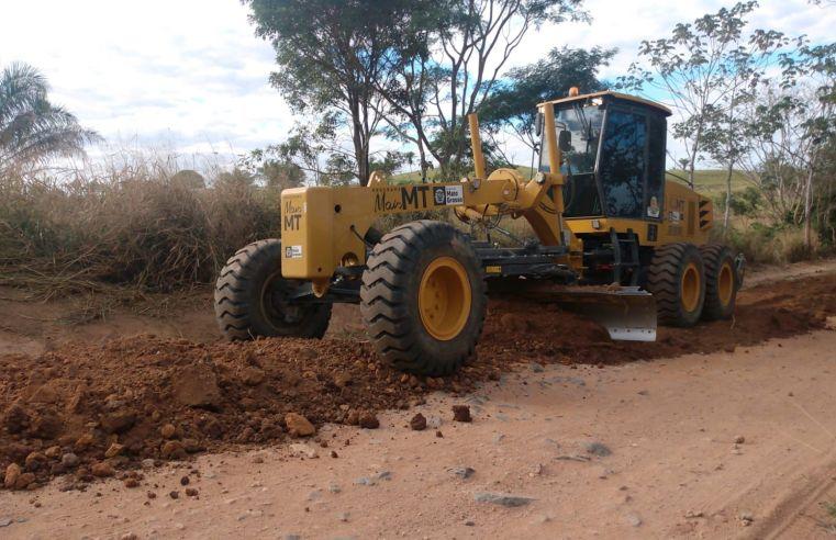 Após um mês, 74 máquinas melhoram condições das estradas de Mato Grosso