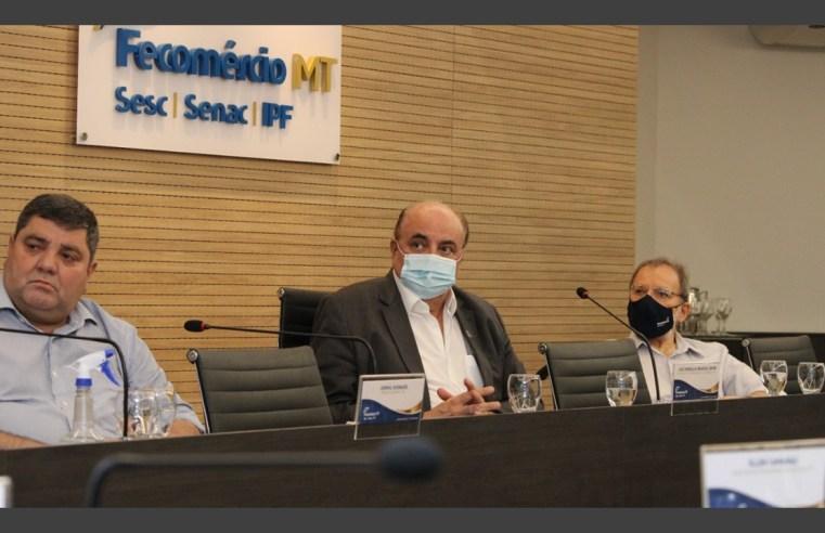 Presidente da Fecomércio-MT destaca criação de Instituto de Pesquisa durante visita da Fecomércio-MS