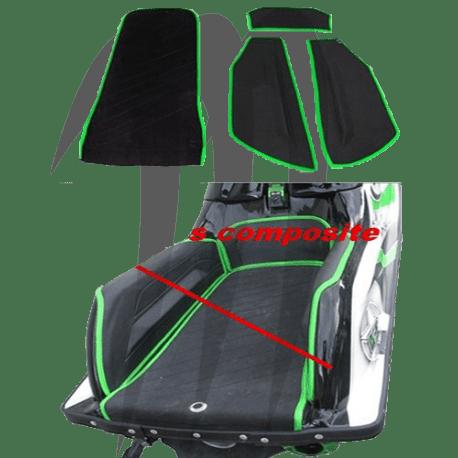 Kit Tapis. Lifter Bumps + Kick-tail. SXR-800. noir-vert. kawasaki