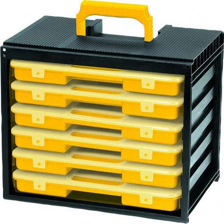 coffret 6 malettes de rangement s15777 matoutils