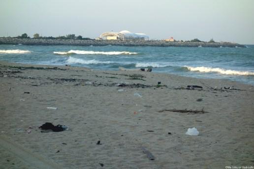 Dommage de trouver autant de plastique sur la plage...