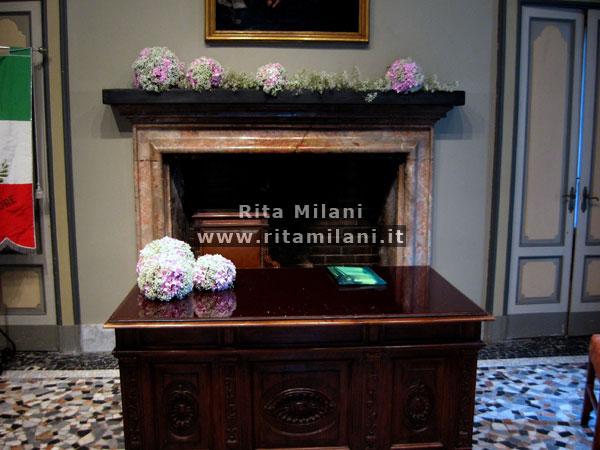 La sala del Comune  Matrimonio Milano  Fiori Matrimonio