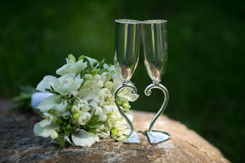Ideas para decorar las copas de los novios