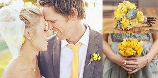 matrimonio giallo grigio