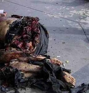Estado de un cuerpo que sufre una explosion