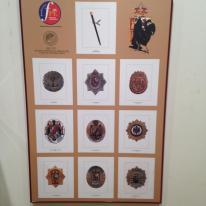 Diversas placas de Policia