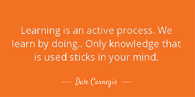 dale carnegie teach and do quote