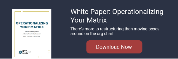 Operationalizing Your Matrix white paper