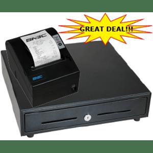 receipt printer & cash drawer