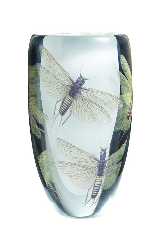 Cathrine Maske. Kunstglass. Utført ved Hadeland Glassverk. 2003. (Foto: Blomqvist Nettauksjon)