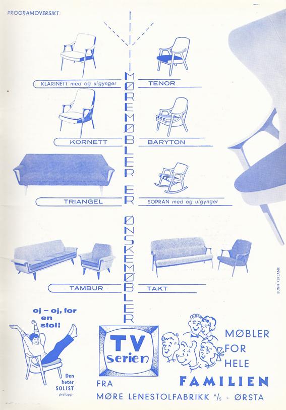 Reklame fra Møbelhandleren 3/1962.