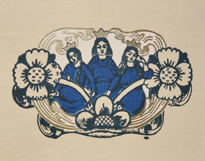 Detalj. Oluf Wold-Torne. Bokomslag: Norske folke-eventyr. 1914. (Foto: Mats Linder)
