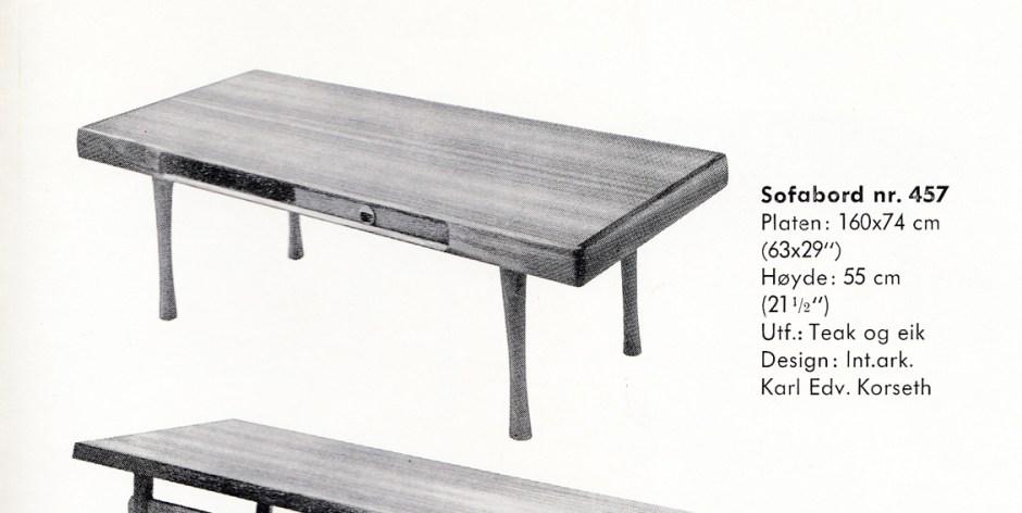 Faksimile fra reklame for Ganddal Møbelfabrikk.