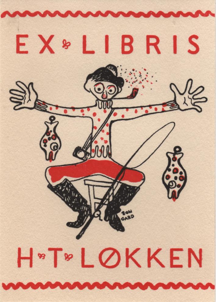 Hermann Bongard. Ex libris. 1943. (Foto: Mats Linder)