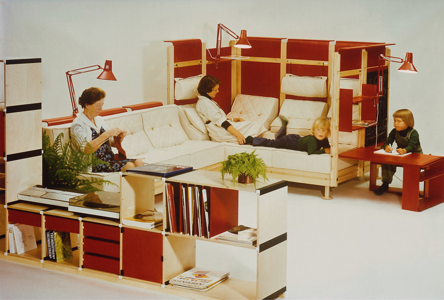 Møre Designteam. People Are Different – byggesystem. Prototype. 1. premie i nordisk møbelkonkurranse. 1976.