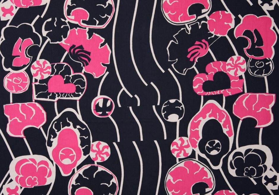 Gro Jessen. Prøvetrykk. Mønster: Tehura. Våren 1966, aldri satt i produksjon. (Foto: Mats Linder)