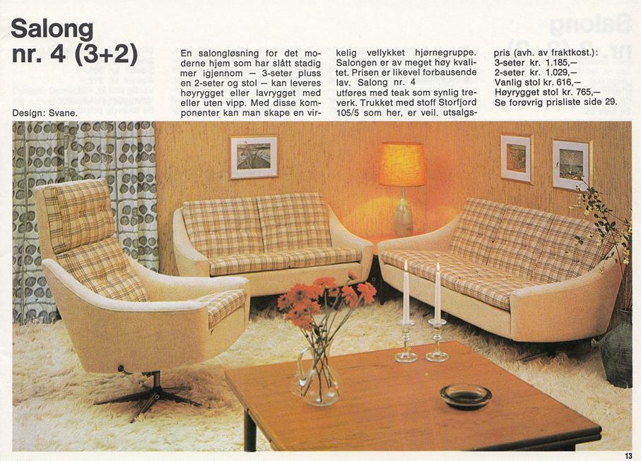 Wonderful EKORNES SVANE – REKLAME FRA 1969 – Mats Linder UZ-61
