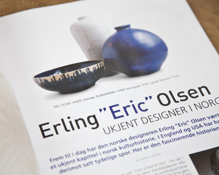 """Faksimile fra Mats Linders artikkel om Erling """"Eric"""" Olsen i Samler & Antikkbørsen 7/2016."""