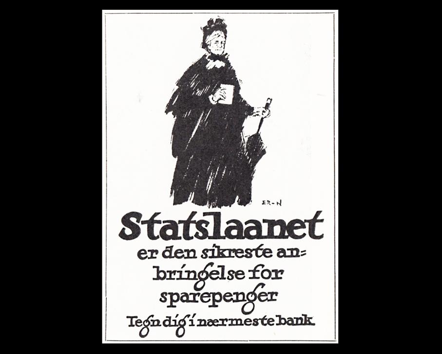 Faksimile til Erling Nielsens plakat til Statslånskampanjen.