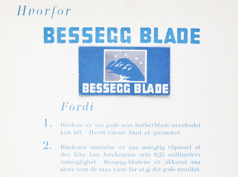 Reklamekampanjen til Bessegg barberblader er en av de mest kjente og omtalte fra 1920-årene.