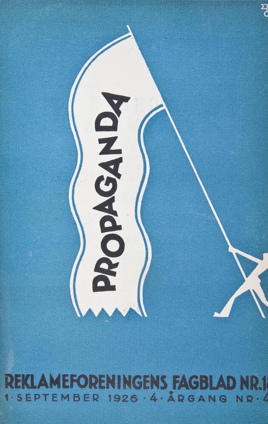 Slagkraftig Propaganda-forside utført ved Eyvin Ovrums atelier i 1926.