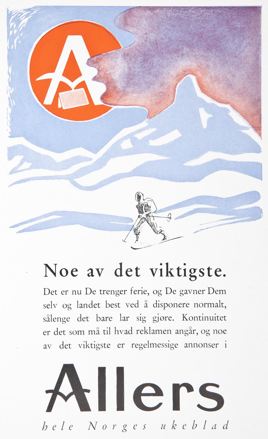 De mørke skyene i Allers-annonsen fra mars 1940 var et varsel om hva som kom til å skje i Norge kort tid etterpå.