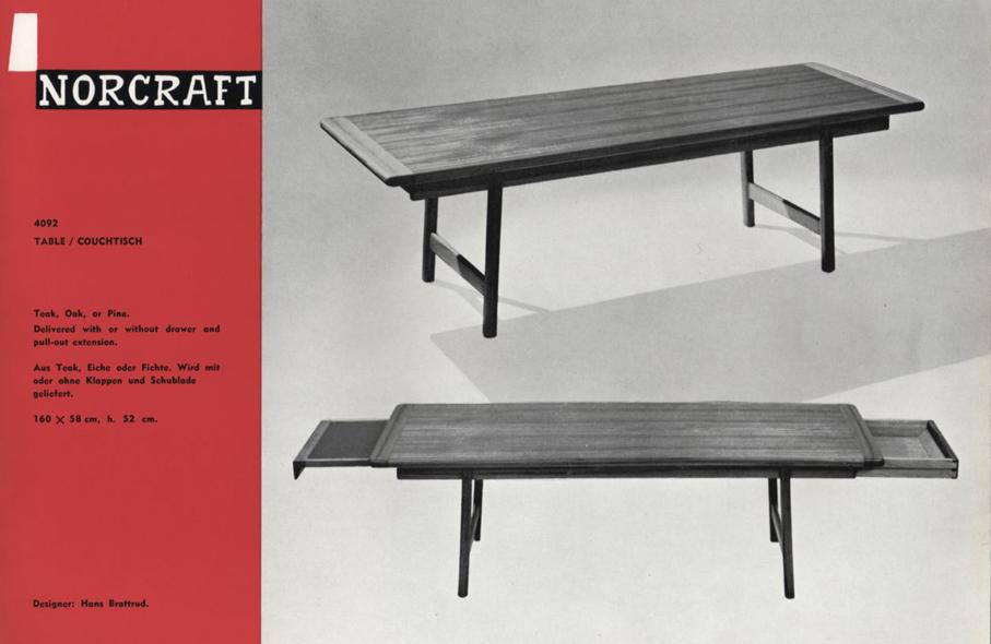 Hans Brattrud. Modell: Fagott. Produsert av Kleppes Møbelfabrikk. Ca. 1960.