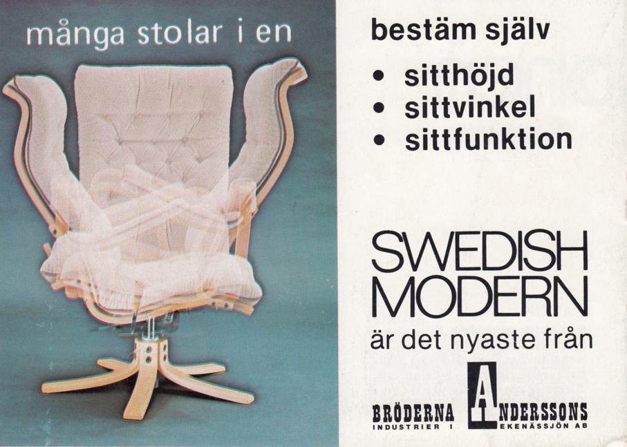 BRÖDERNA ANDERSSON — SWEDISH MODERN – Mats Linder