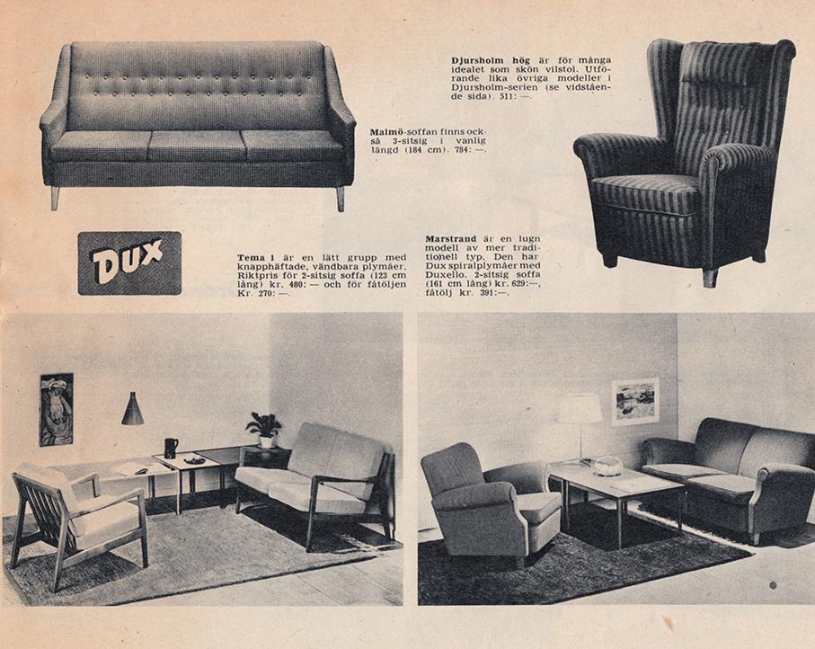 DUX – PRODUKTKATALOG FRA 1950 TALLET – Mats Linder