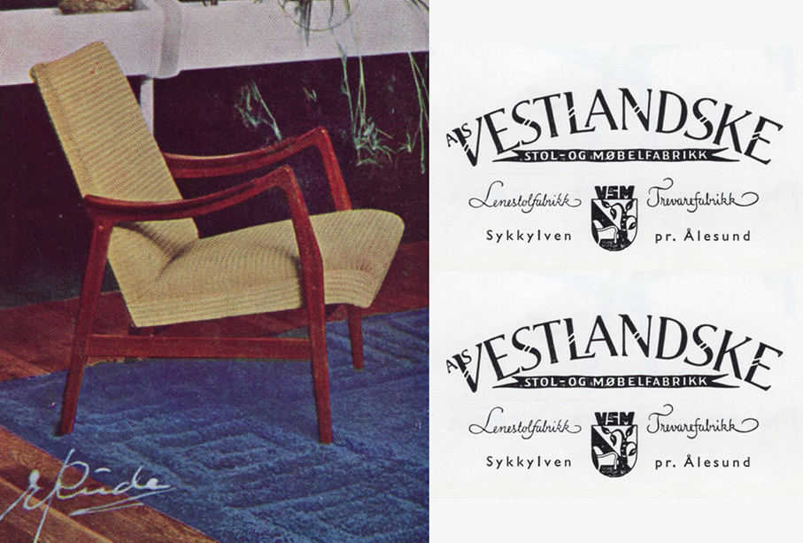 VESTLANDSKE – SJELDEN BROSJYRE FRA CA. 1960 – Mats Linder